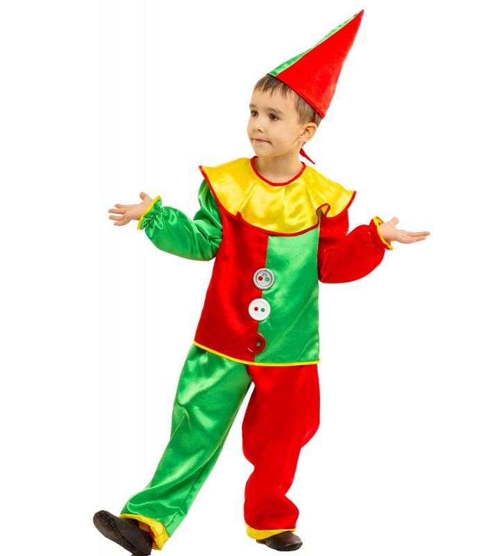 Карнавальный костюм Петрушки зеленый оптом 7 км
