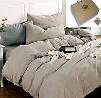 Двуспальное постельное белье, Лен 100% - Бриллиантовый туман