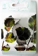 "Форма для мастики (металл) ""лист розы"" из 4-х №17189"