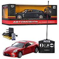 Машина M 2342 U/R, Порше, на радиоуправлении, 2 цвета, аккумулятор, М 1:14, свет, в коробке 46*19*22 см.