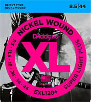 Струны D'Addario EXL120+ Nickel Super Light (0095-044) для электрогитары