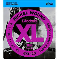 Струны D'Addario EXL120 Nickel Super Light (009-042) для электрогитары