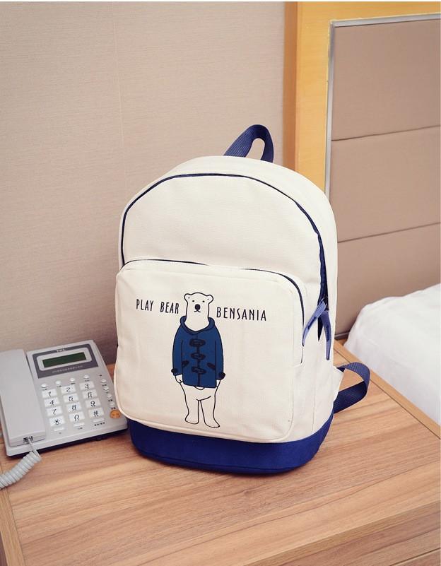 """Молодежный рюкзак """"Стильный мишка"""""""