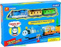 Железная дорога детская, Паровозик Томас, 2 вагона (Томас и друзья, Thomas & Friends), 18 элементов