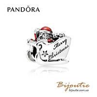 Шарм Pandora САНКИ САНТЫ #792004CZ серебро 925 Пандора оригинал