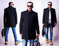 Мужское черное кашемировое пальто Грэй