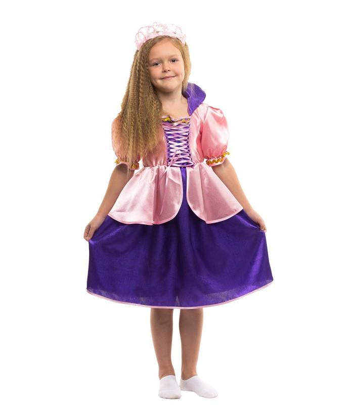 Детский карнавальный костюм принцессы Рапунцель (3 - 11 лет)