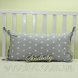 Бортики подушки в кроватку, Подушка 30х60 -01