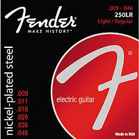 Струны Fender 250LR Super 250 Nickel-Plated Steel (009-046) для электрогитары