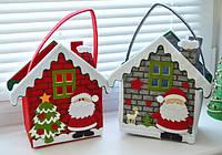 Подарочная упаковка и игрушки к Новому году из фетра.