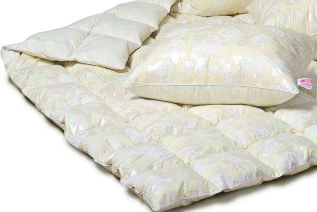 стеганое пуховое одеяло экопух