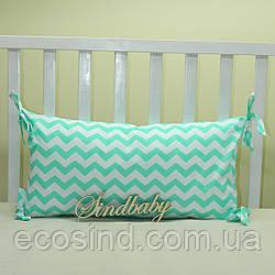 Бортики подушки в кроватку, Подушка 30х60 -03