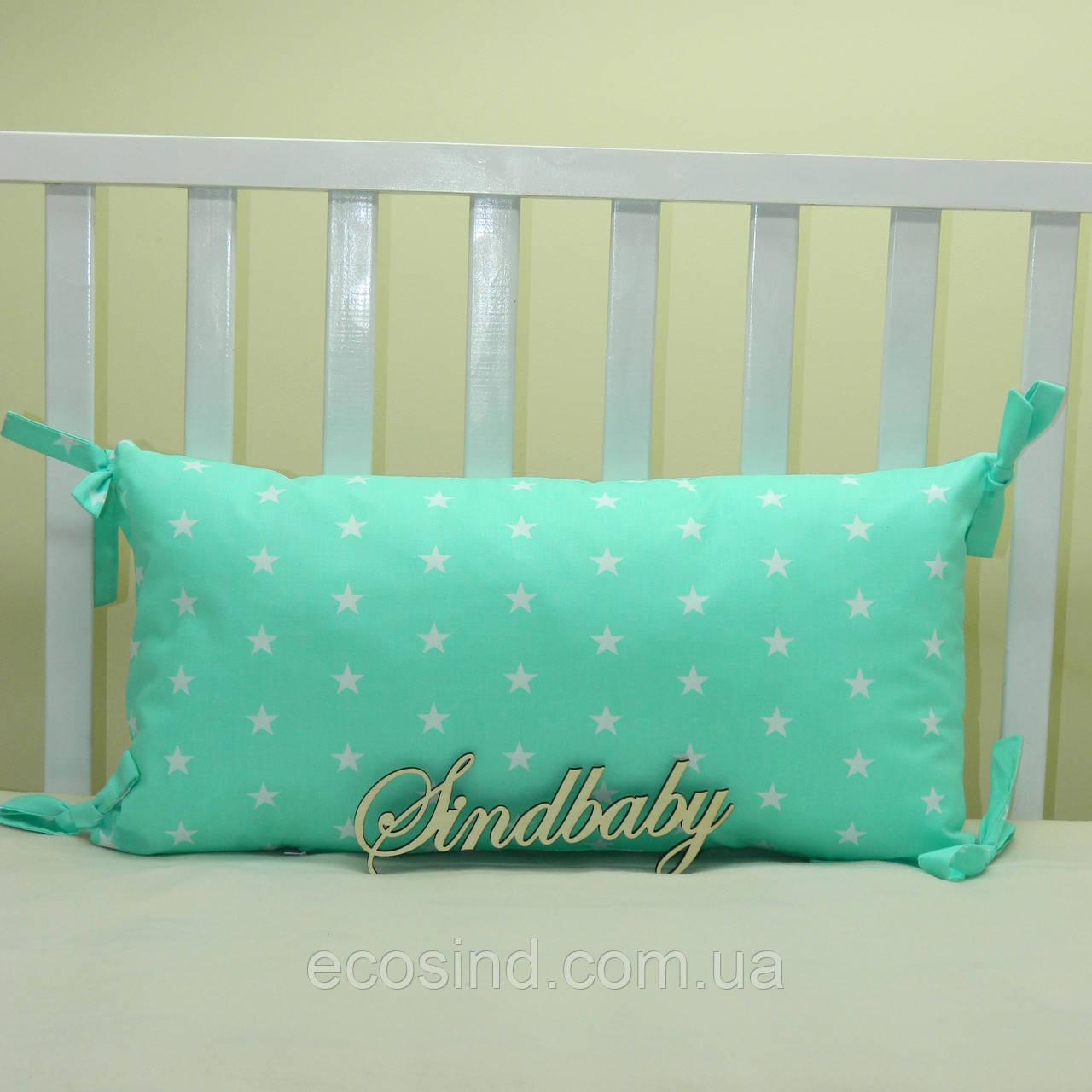 Бортики подушки в кроватку, Подушка 30х60 -04