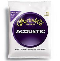 Струны Martin M175 Traditional Bronze Custom Light (011-052) для акустической гитары