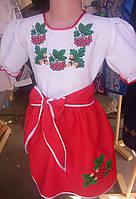 Детское вышитое платье Калинка