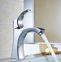 Смеситель кран в ванную комнату для умывальника однорычажный, фото 1