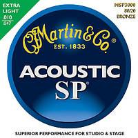 Струны Martin MSP3000 SP 80/20 Bronze Extra Light (010-047) для акустической гитары
