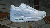 Nike air max 90 женские кроссовки серебрянная радуга кожа оригинал