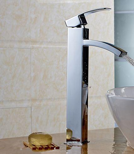 Смеситель высокий для чаши умывальника в ванную 0031