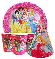 """Набор бумажной посуды для детского дня рождения """" Принцессы """""""