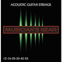 Струны Musician's Gear Acoustic 12 80/20 Bronze (012-052) для акустической гитары