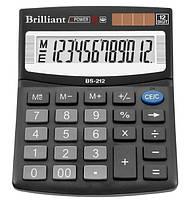 Калькулятор BS-212, 12 разрядов, (125*100 мм.). Brilliant