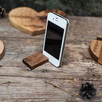 """Красивая деревянная подставка для смартфона """"Крючок"""""""