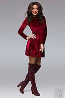 Платье бархатное с длинным рукавом 1283 аи