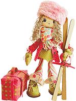 """Набор для шитья игрушки Текстильная каркасная кукла """"Лыжница"""" К1020"""