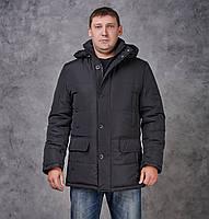 Зимняя мужская куртка Кинг черная, фото 1