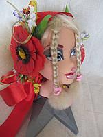 Лента на голову с цветами на 2 стороны (50/45), фото 1