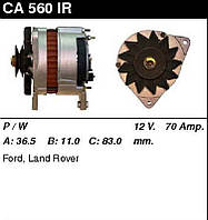 Генератор /70A / Ford Escort 1,6D 86-89, Fiesta 1,4-1,6