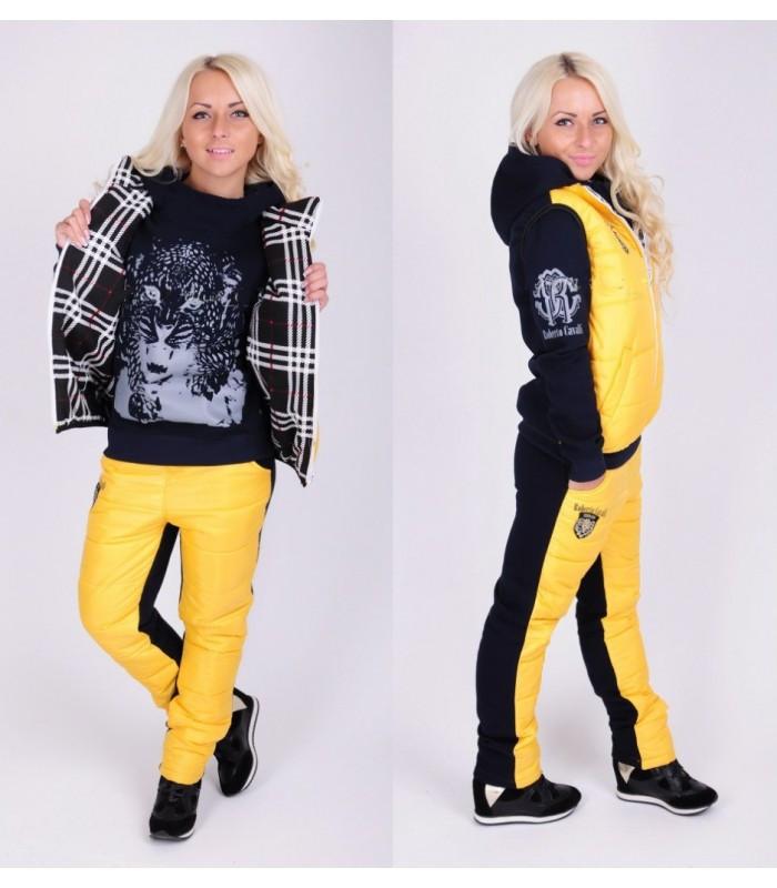 Зимний костюм тройка (жилетка, толстовка, штаны) плащевка на синтепоне и флисе - AMONA  интернет-магазин модной одежды в Одессе