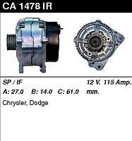 "Генератор восст. /115A/ Chryhsler Voyager, Dodge Caravan 2,5TD 95-01"""