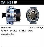Генератор восст. /115A/ Mercedes Sprinter, Vito CDI