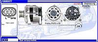 Генератор восст. /120A/ Chevrolet Cruze, Opel Insignia, Astra J 1,6-1,8