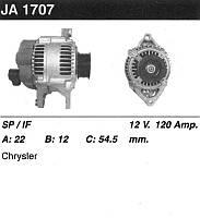 """Генератор восст. /120A/ Dodge Caravan, Chrysler Voyager 3.0, 3.3, 3.8i   95-01"""""""