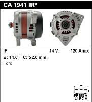 Генератор восст. /120A/ Ford C-Max, Focus2 1.8TDCI 04-