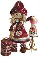 """Набор для шитья игрушки Текстильная каркасная кукла """"Модистка"""" К1021"""