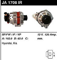 Генератор восст. /120A/ Hyundai Elantra, SantaFe, Sonata, Tucson, Kia Sportage 2,0-2,2 CRDi