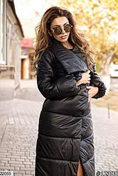 Пальто женское на молнии и кнопках, стеганная плащевка (2 цвета)