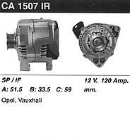 Генератор восст. /120A/ Opel Vectra B, Omega B 2.5-3.0