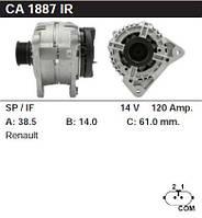 Генератор восст. /120A/ Renault Scenic Laguna Megane 1.6 16V 05-
