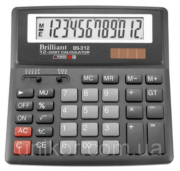 Калькулятор BS-312, 12 разрядов, (156*157*34 мм.). Brilliant
