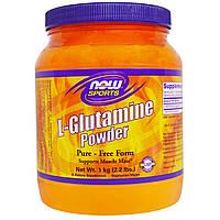 L-глютамин, Now Foods, Спорт, порошок, 1 кг
