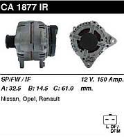 Генератор восст. /150A/ Renault Laguna II 1,9, Trafic II, Master III 2,5 Dci