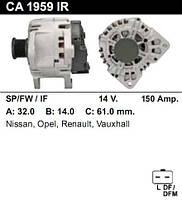 Генератор восст. /150A/ Renault Trafic2, Laguna2 2,0 DCi