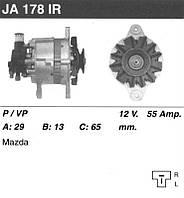 Генератор восст. /55A/ Mazda 323 86-89 1,7D