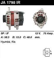 Генератор восст. /70A/ Hyundai Atos, Getz, i10, Kia Picanto 1,0-1,1