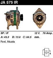 Генератор восст. /70A/ Mazda 626 87-97 1,8-2,0